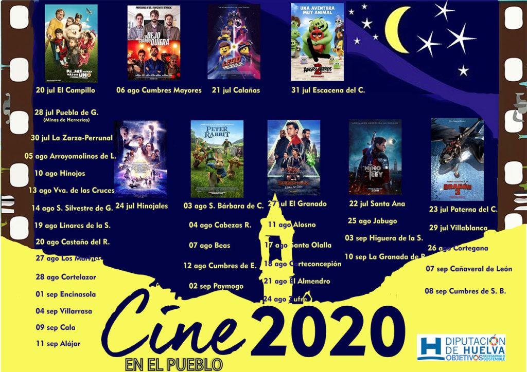 cine en el pueblo Huelva verano 2020