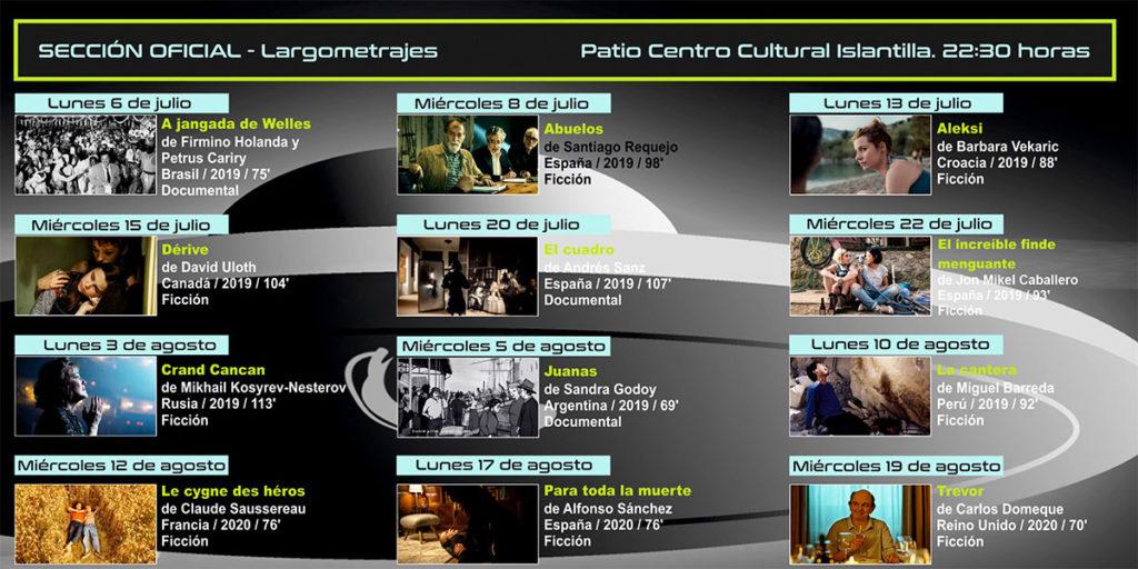 Largometrajes Festival de Cine Bajo la Luna Islantilla Cineforum 2020
