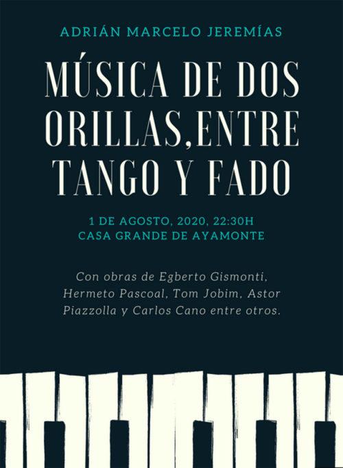 Ayamonte Adrian Marcelo jeremias, piano, tango, fado, ayamonte, huelva, concierto tango Fado