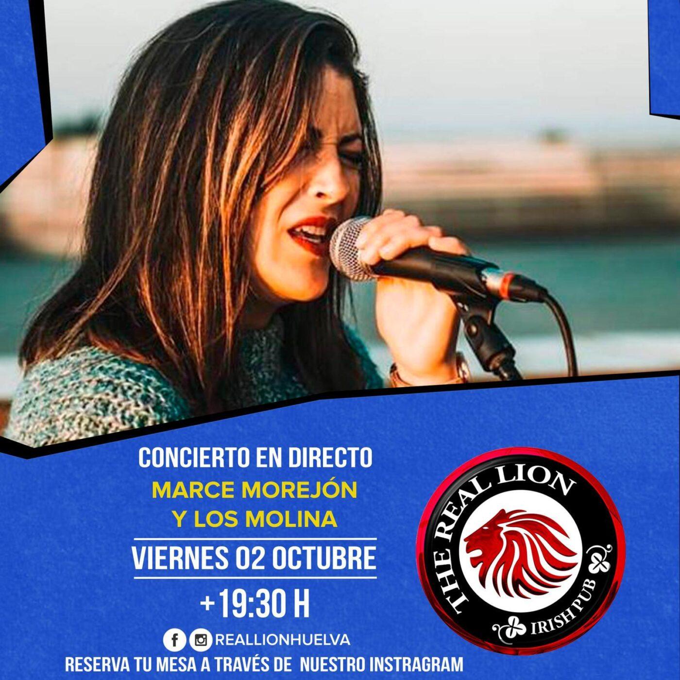Marce Morejón Los Molina concierto Flamenco Real Lion Huelva Octubre 2020