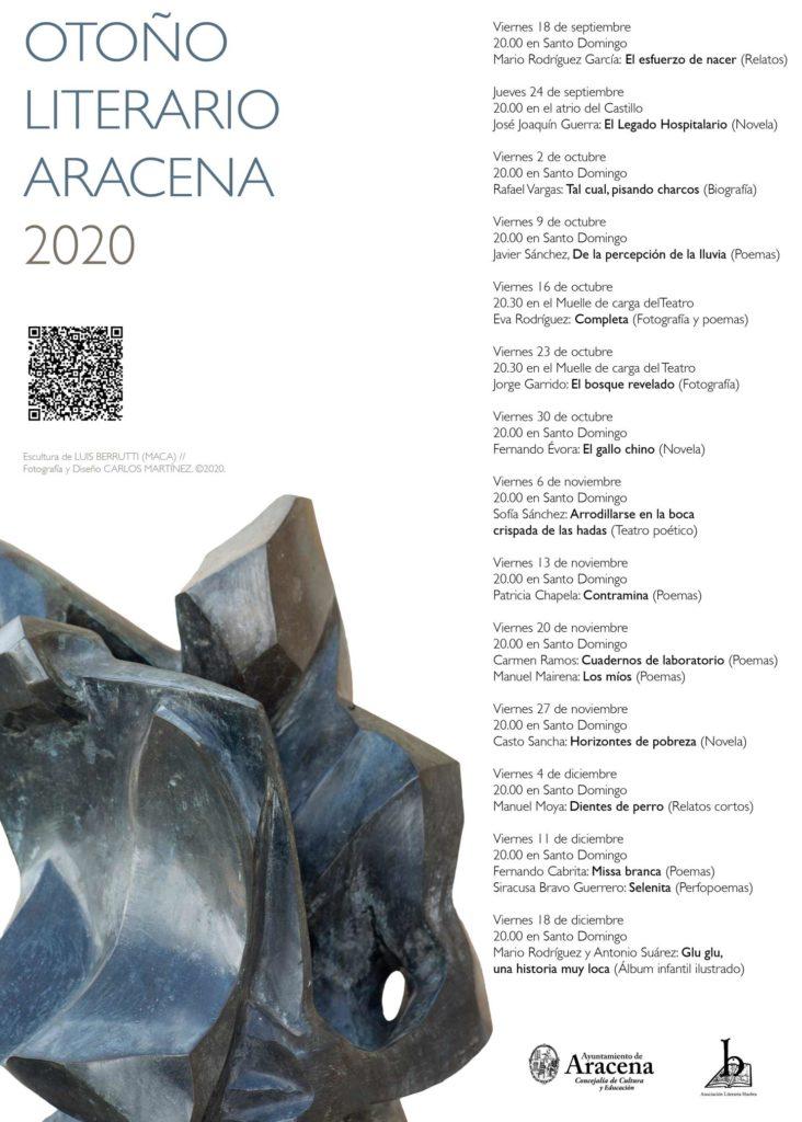 Otoño Literario Aracena 2020, Agenda de Huelva Septiembre