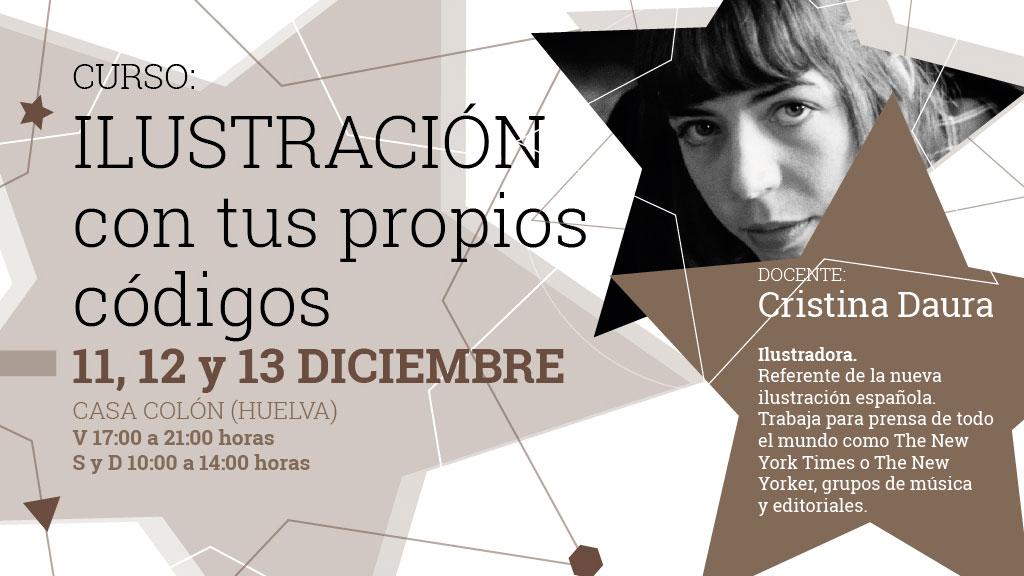Curso gratuito de ilustración digital con Cristina Daura del 11 al 13 de diciembre en la Casa Colón de Huelva