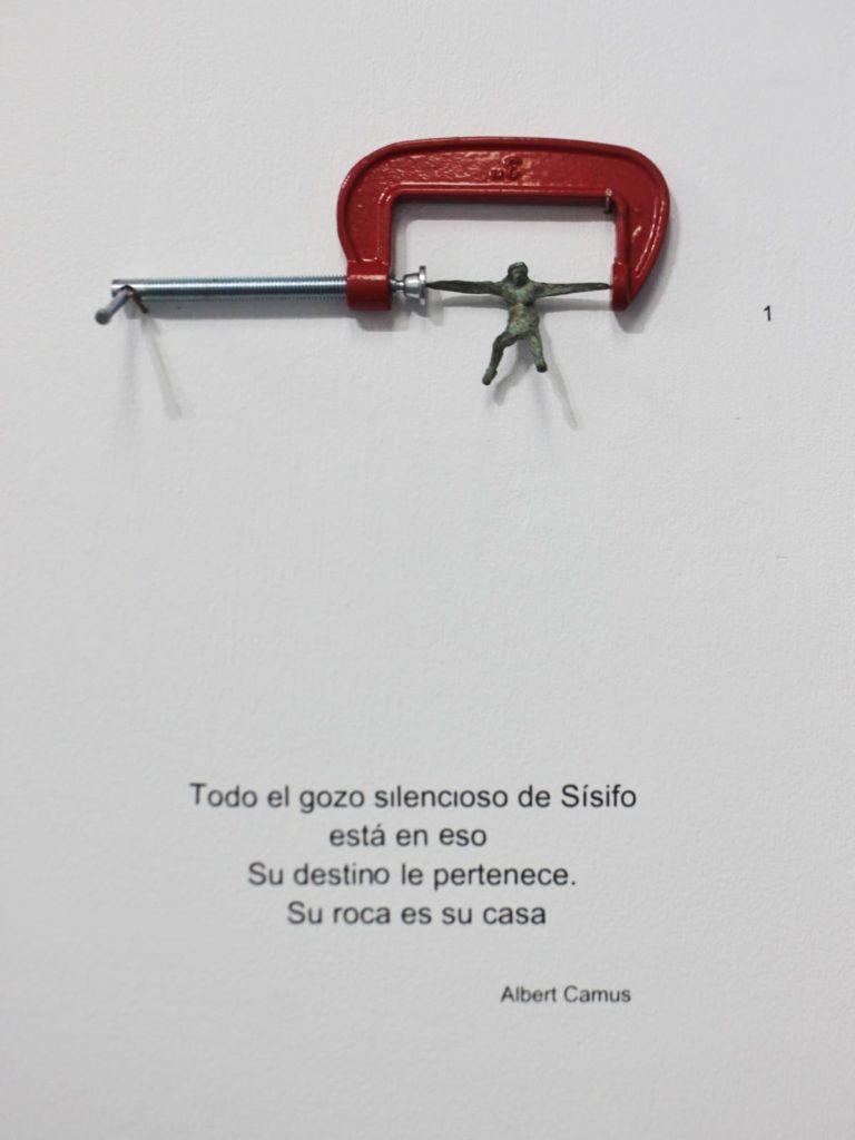 Exposición Presiones y Sobrepesos escultura y dibujo Huelva Andrés J. Naranjo Espacio 0 Septiembre