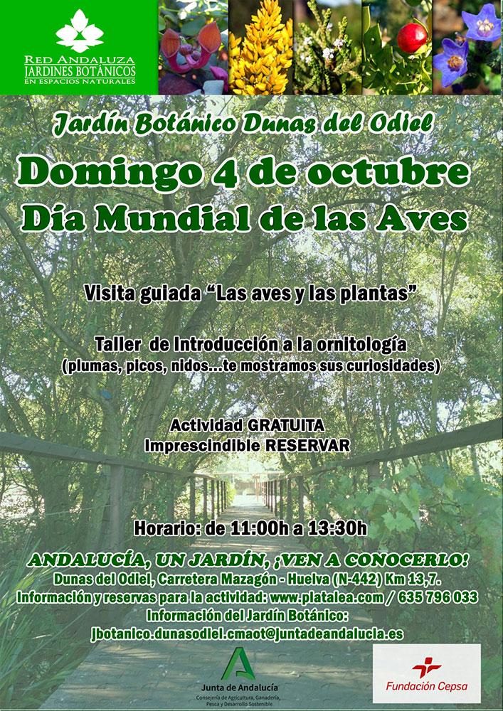 4 de octubre dia mundial de las aves actividades en familia platalea, ornitología, jardín botánico