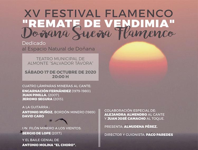 Festival Flamenco remate de vendimia 17 de octubre almonte doñana 2020