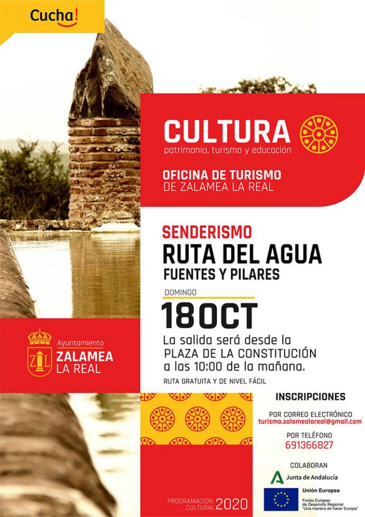 Senderismo Ruta del agua Zalamea la Real Huelva Fuentes y Pilares 18 de octubre 2020