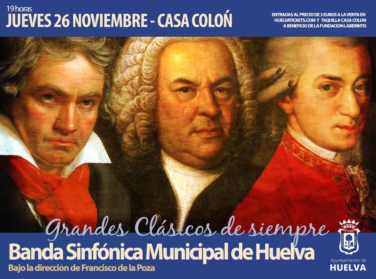 concierto música sinfónica clásicos noviembre 2020 banda sinfónica Municipal