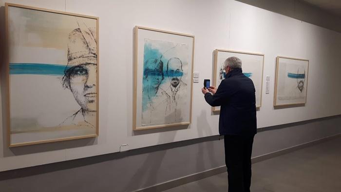 Mar de pintor Exposición varios artistas JRJ