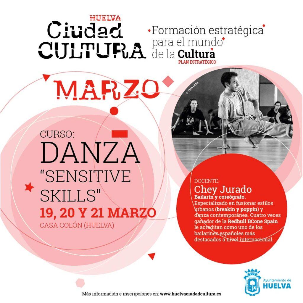 curso danza y baile marzo 2021 Huelva sensitive skills con Chey Jurado