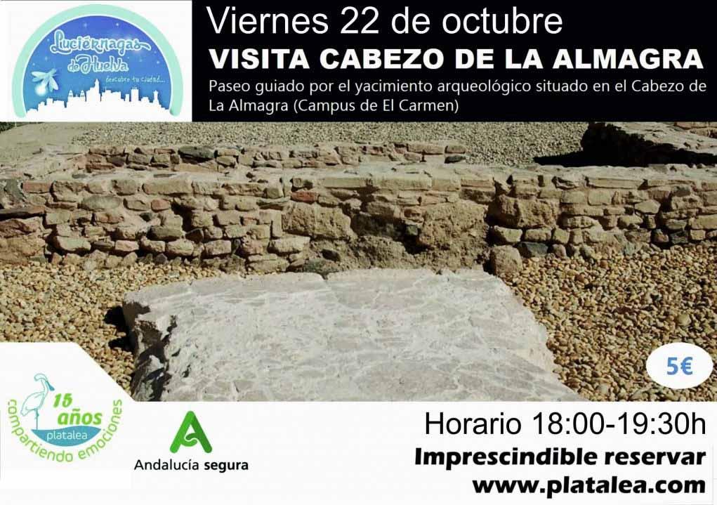 visitas guiadas al yacimiento del cabezo de la almagra Universidad Huelva 22 de octubre 2021