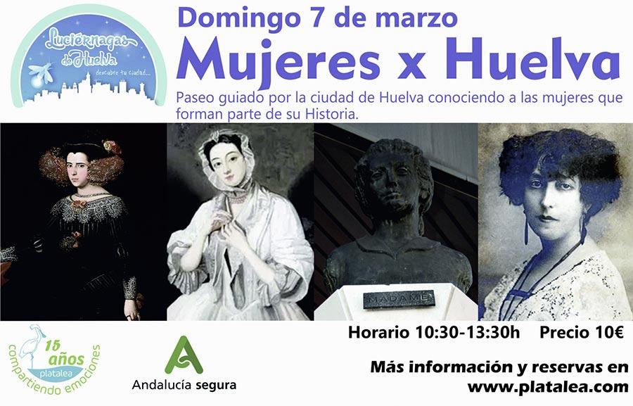 Mujeres por Huelva actividad paseo guiado patrimonio historia platalea