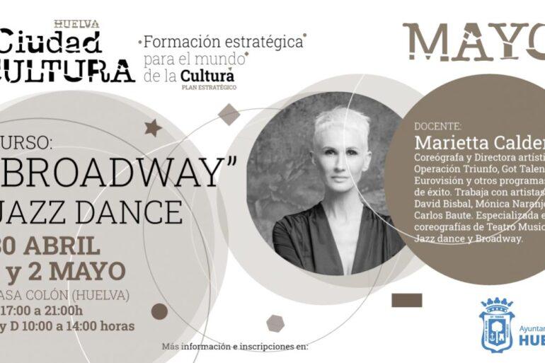 Curso iniciación danza jazz y broadway en Huelva con Marietta Calderón