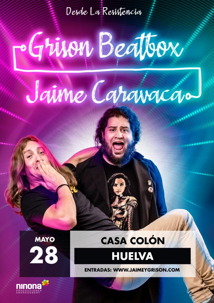 Grison Beatbox y Jaime Caravaca, duo cómico, todo esto en un ambiente participativo y animado para un público que, ante todo, no quedará indiferente Casa Colón