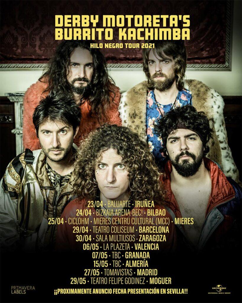 Derby Motoreta's Burrito Cachimba Hilo Negro Tour en concierto Moguer