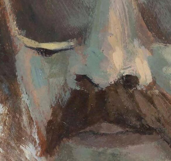 Exposición pintura homenaje a mario león en Aracena mayo 2021