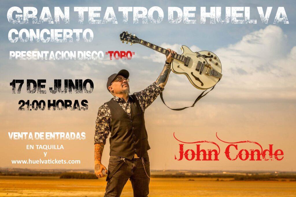 John Conde presentación disco guitarrista rock metal Toro Gran teatro el 17 de Junio 2021