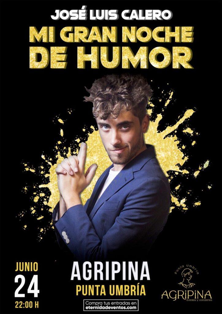 Noche de humor con el monologo de José Luis Calero en Punta Umbría 24 de junio