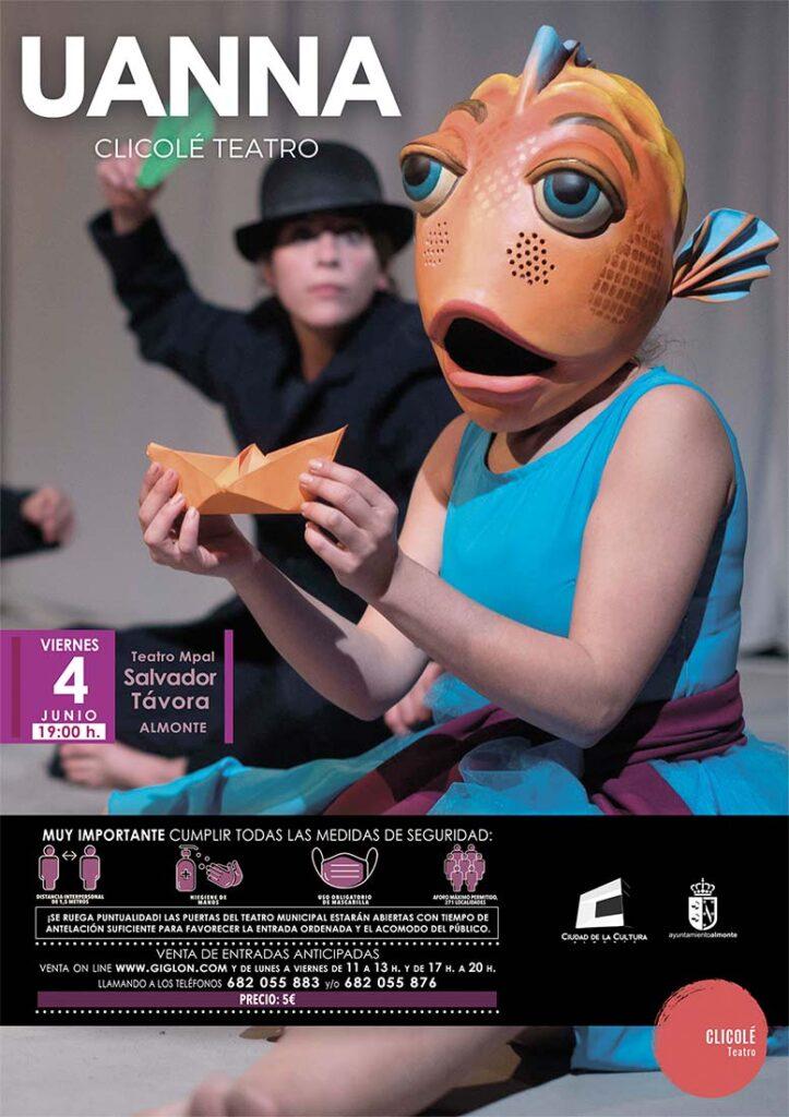 Uanna Teatro Infantil clicole 4 de Junio en Almonte