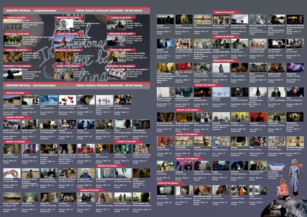 Programacion Completa Cineforum ISlantilla cine 2021 2