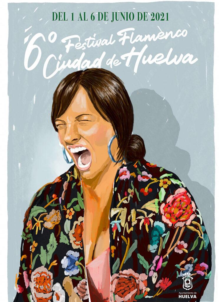 cartel VI Edición Festival Flamenco Ciudad de Huelva 2021