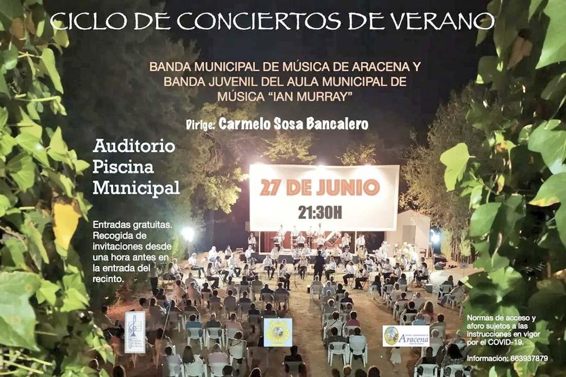 concierto banda municipal Aracena ian murray junio