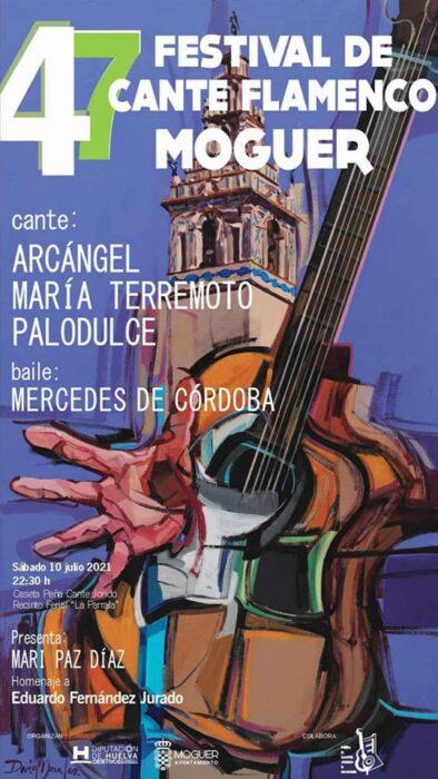 cartel Festival de Cante flamenco Moguer 10 de julio 2021