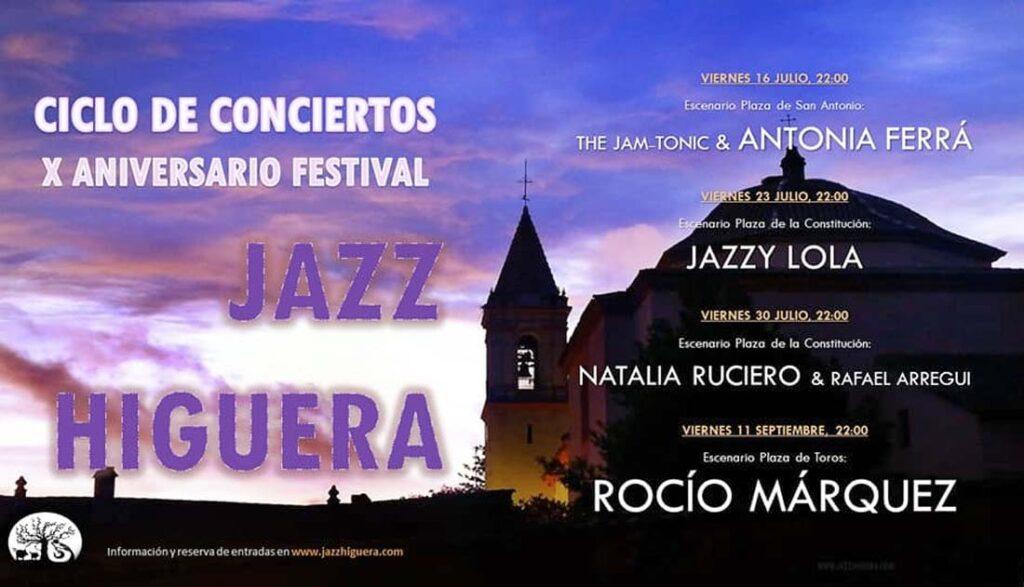 jazz higuera 2021 conciertos antonia ferra rocio marquez jazzy lola natalia ruciero julio