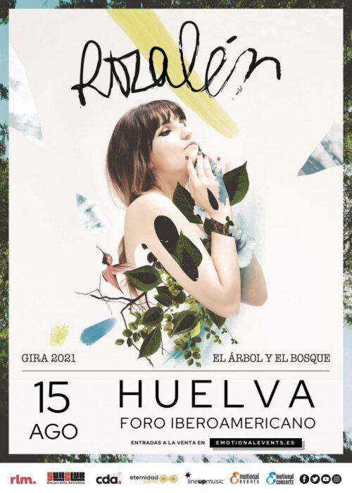 rozalen en concierto foro iberoamericano 15 agosto el arbol y el bosque Huelva