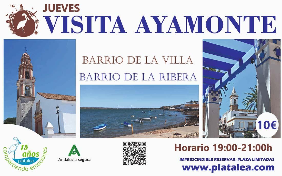 visitas guiadas ayamonte barrio de la villa ribera jueves platalea
