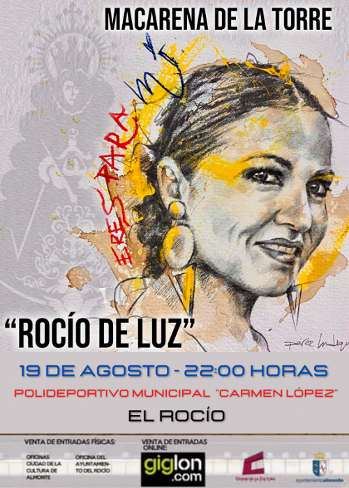 Macarena de la Torre en concierto en el Rocío