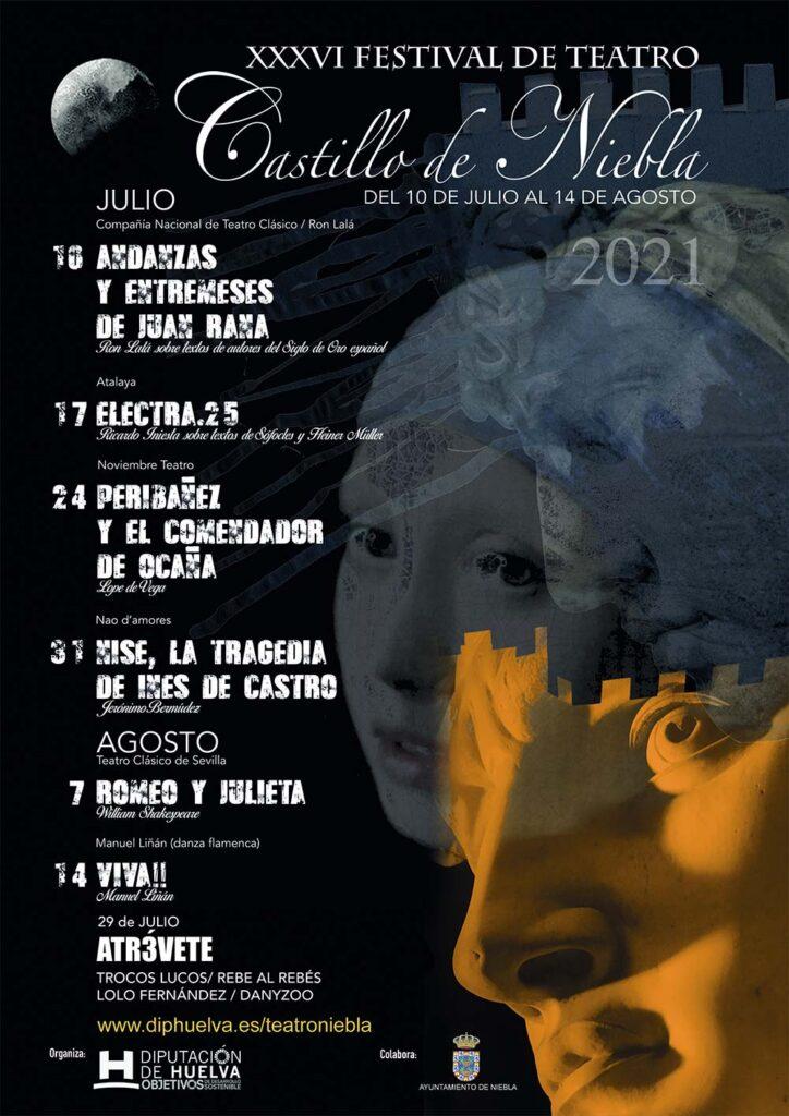 Cartel Programación Festival de Teatro Castillo de Niebla 2021