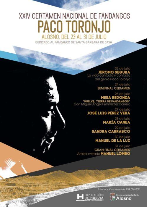 cartel festival fandangos alosno Paco Toronjo 2021