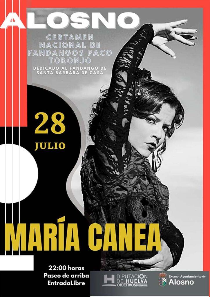 maria canea en concierto flamenco alosno