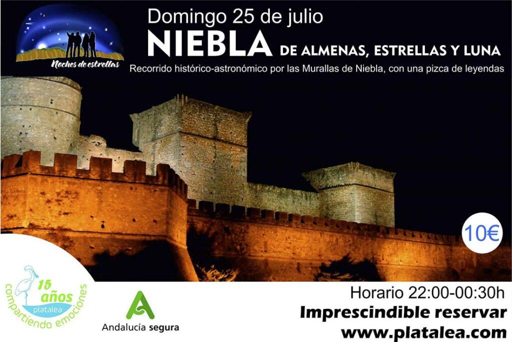 recorrido nocturno historico astronomico por las murallas de niebla castillo