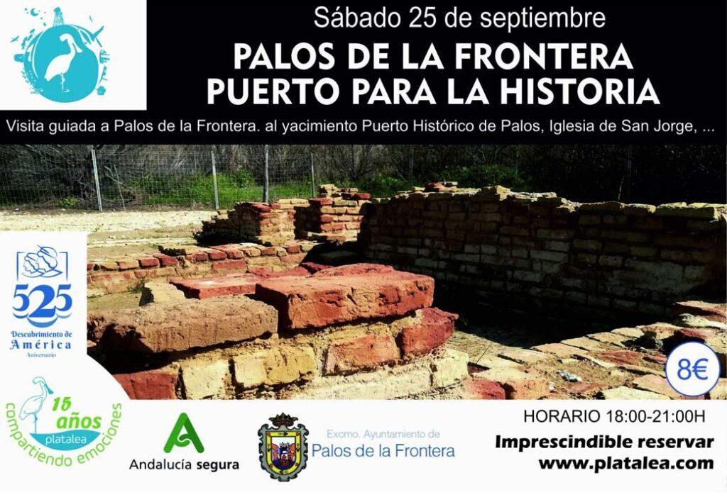visita guiada yacimiento puerto historico palos iglesia san jorge platalea 25 septiembre
