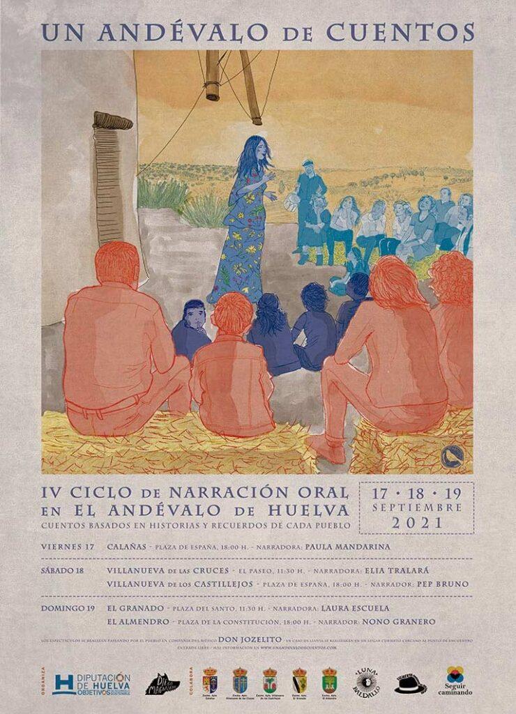 Cartel un andevalo de cuentos festival de narracion oral huelva septiembre 2021