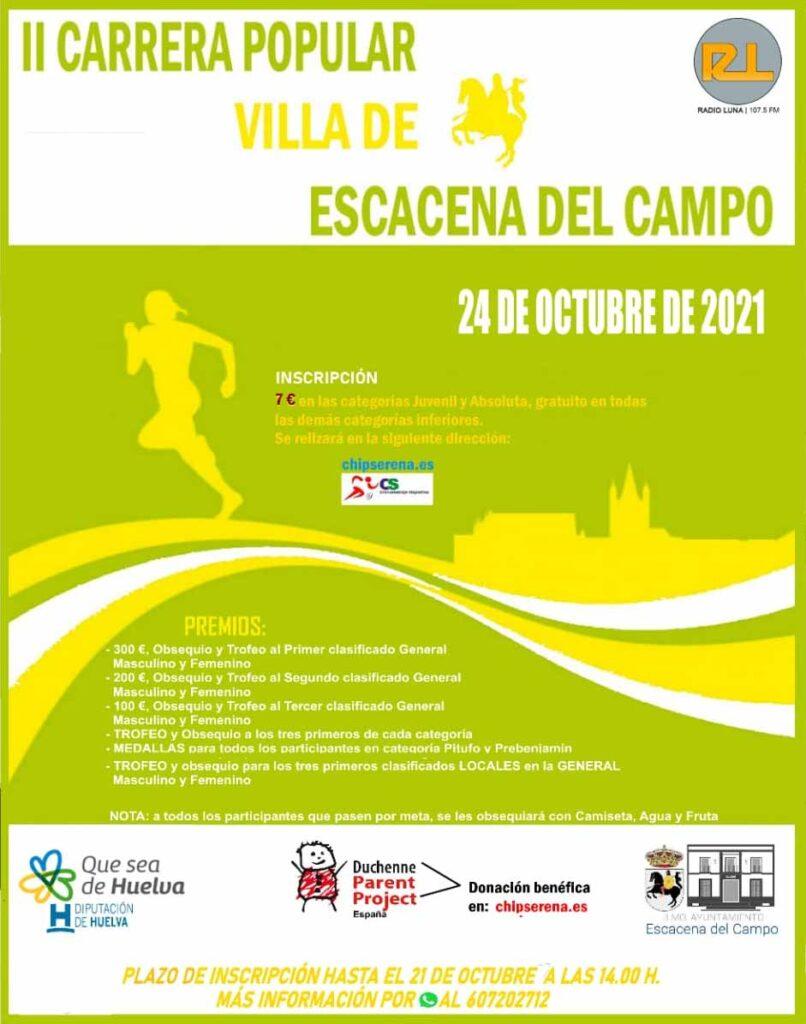 II carrera popular de Escacena del Campo carreras populares 24 de octubre 2021