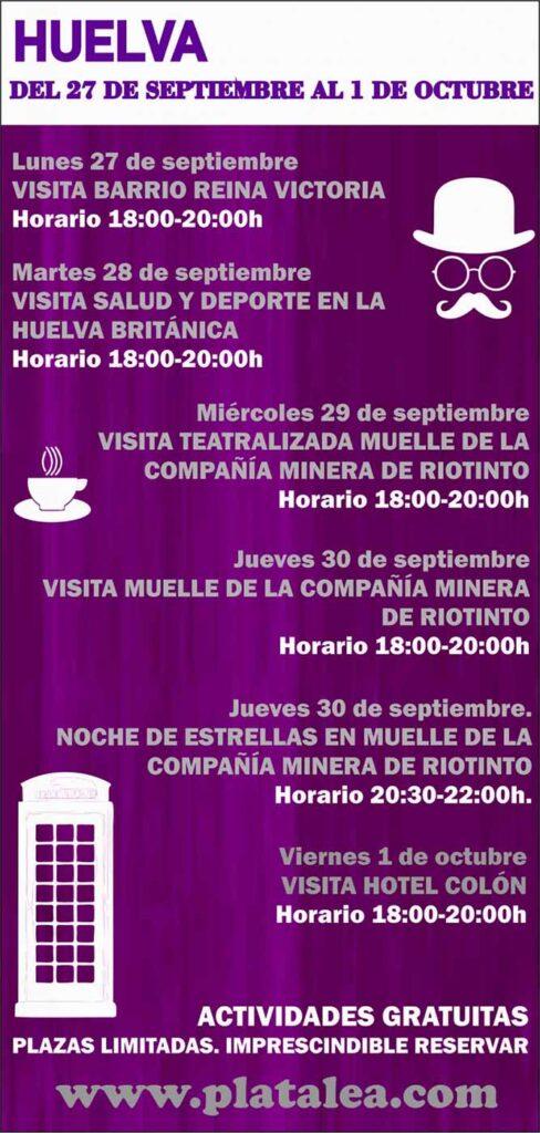 actividades turisticas Huelva octubre 2021 aniversario mineria barrio obrero muelle del tinto