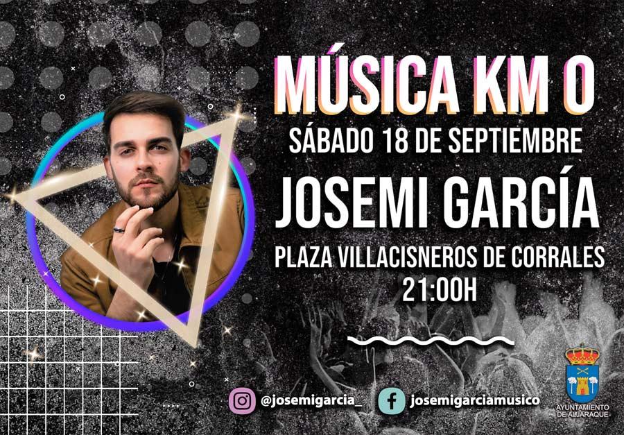 josemi garcia en concierto corrales 18 septiembre 2021