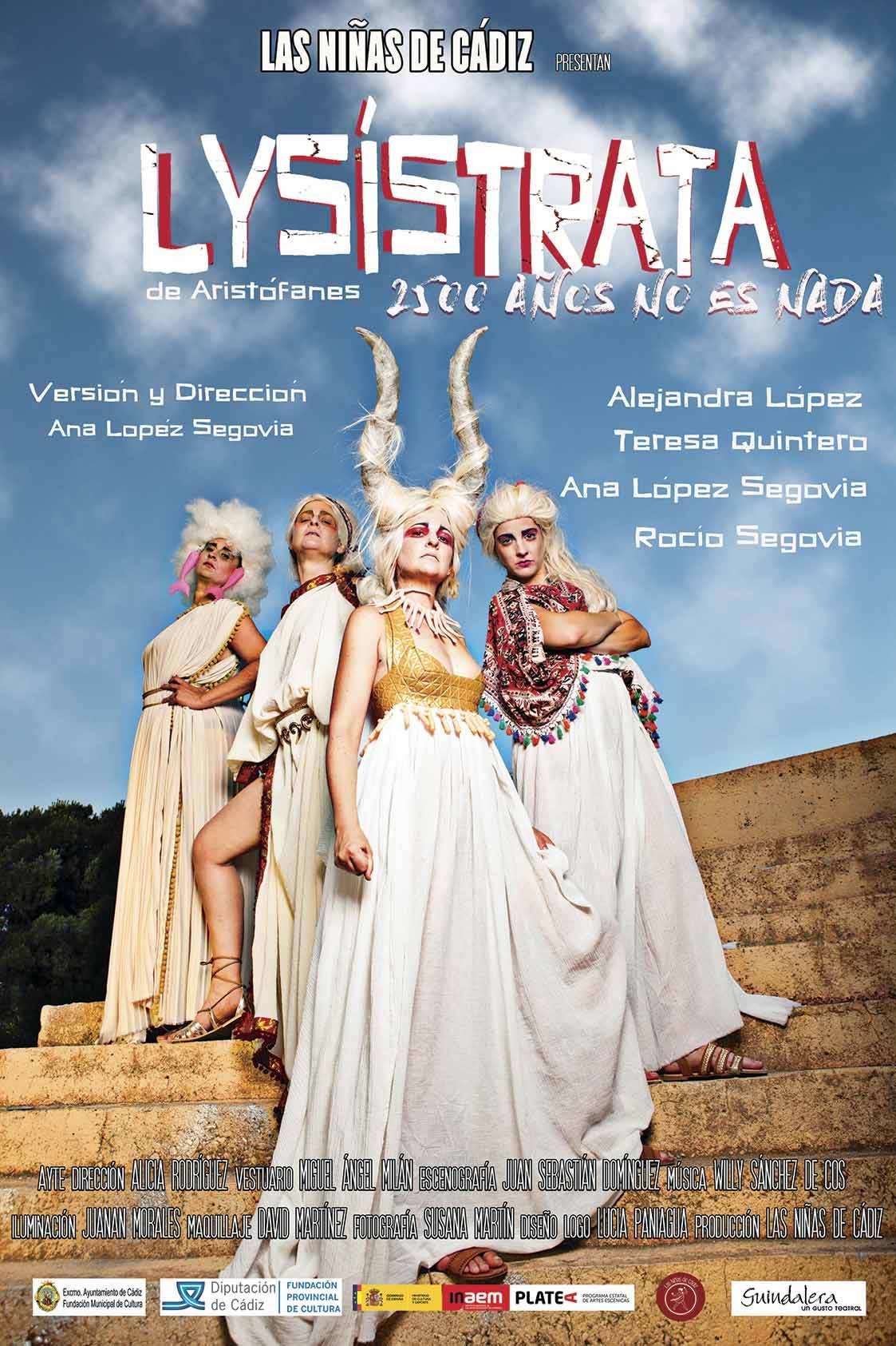 las niñas de cádiz lysístrata teatro humor comedia clasico Aristófanes Almonte Teatro Salvador Távora 22 de octubre 2021