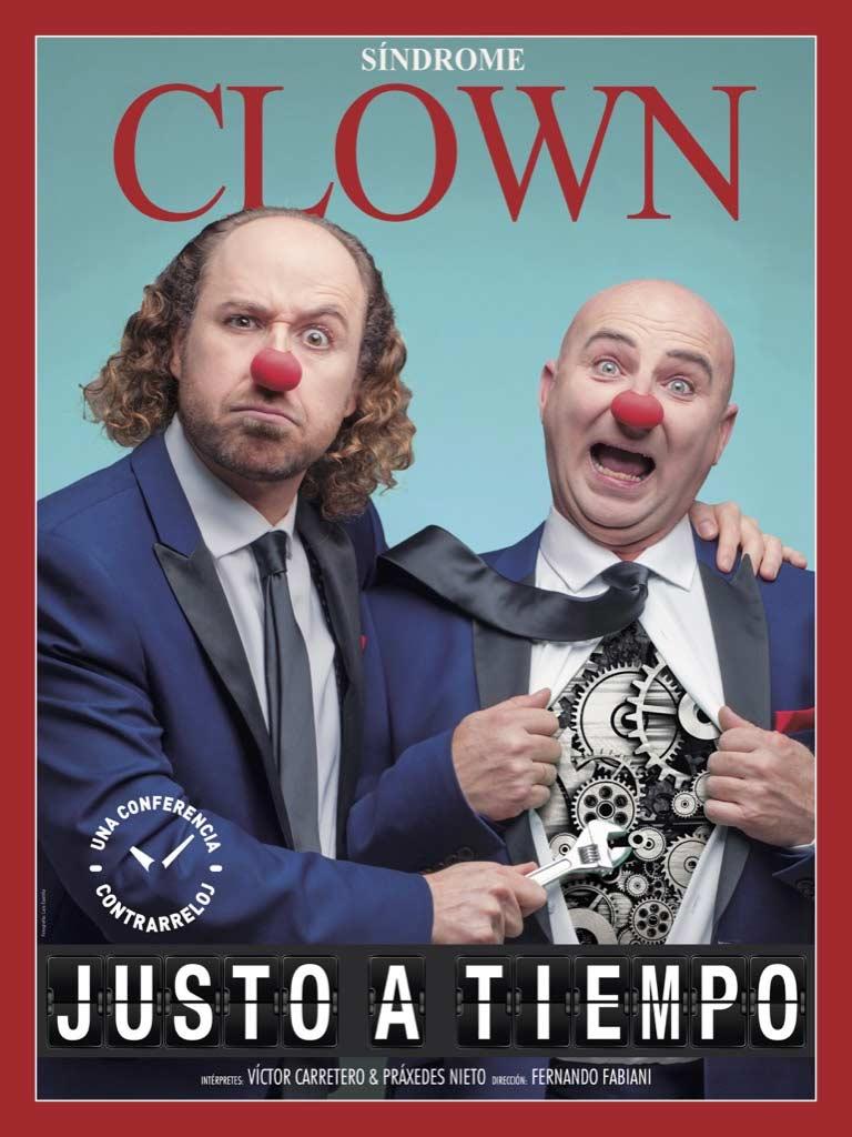 sindrome clown justo a tiempo cartel
