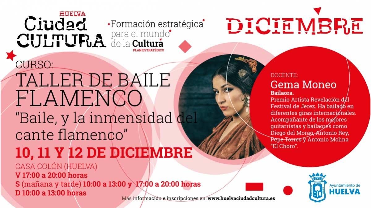 taller de baile flamenco diciembre gratis gratuito con gema moneo 2021
