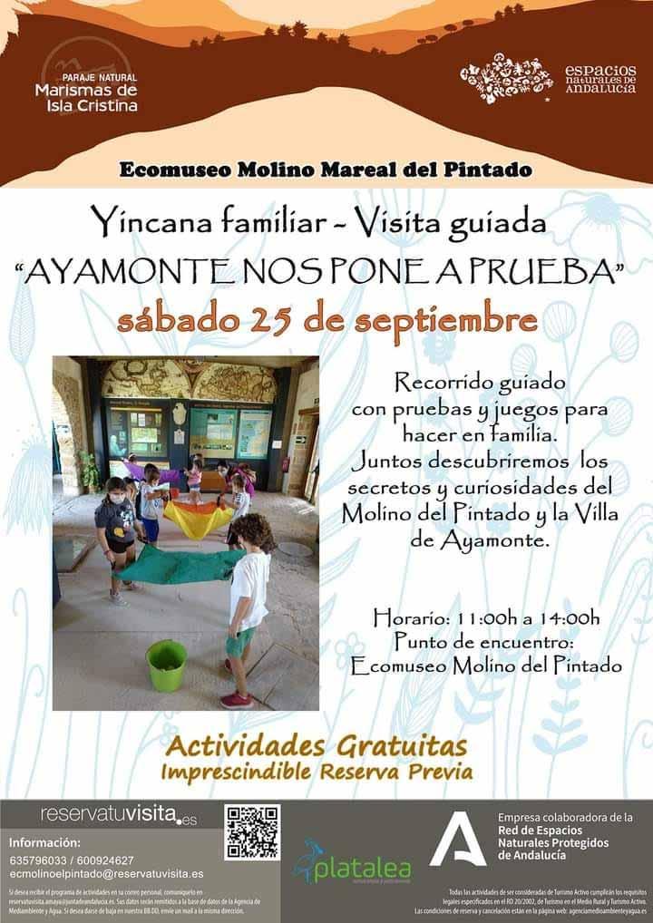 yincana familiar molino pintado 25 septiembre Ayamonte Platalea