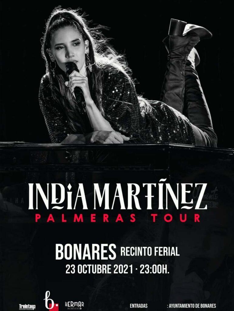 cartel india martinez bonares Huelva 23 de octubre 2021
