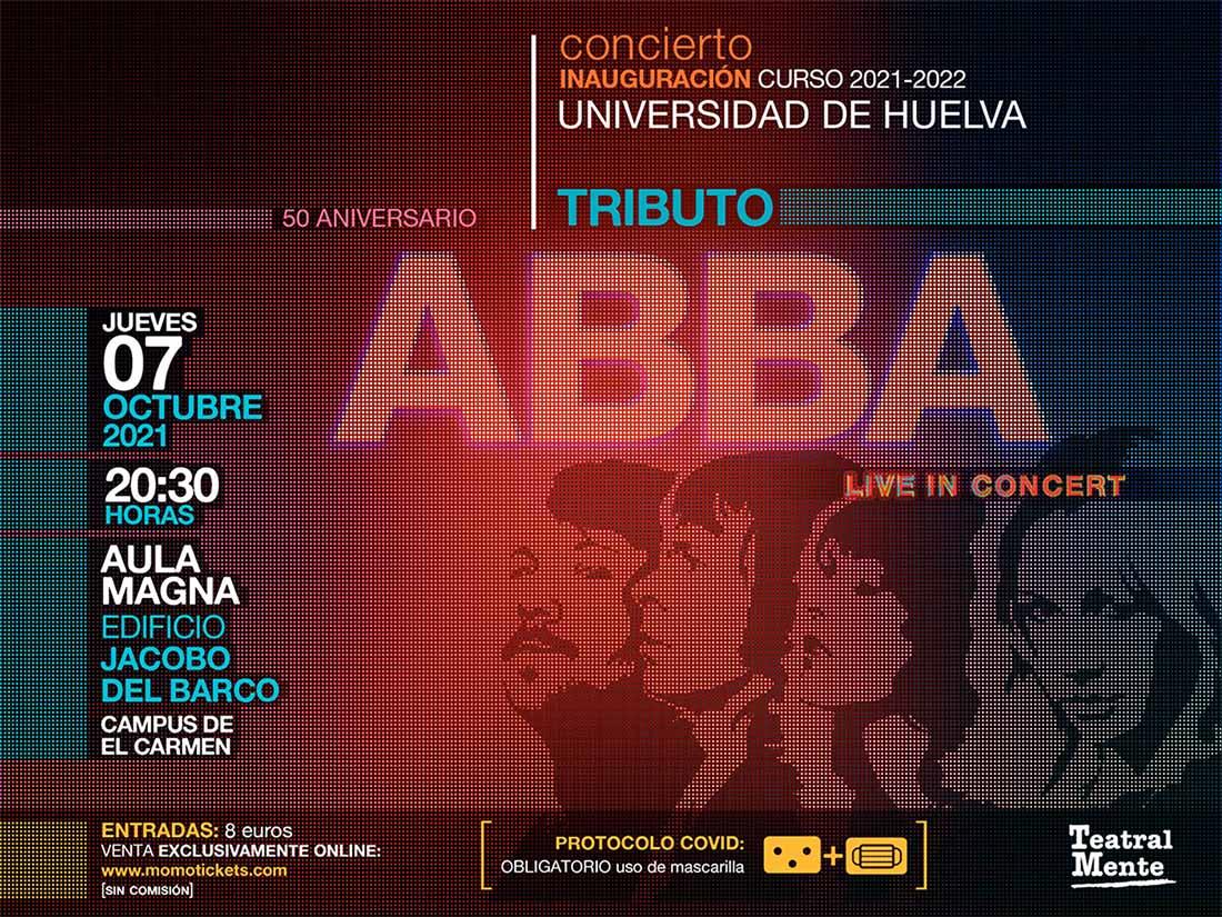 concierto tributo Abba universidad de Huelva Inauguración del curso 2021 2022 jueves 7 de octubre 2021 jacobo del barco campus del carmen