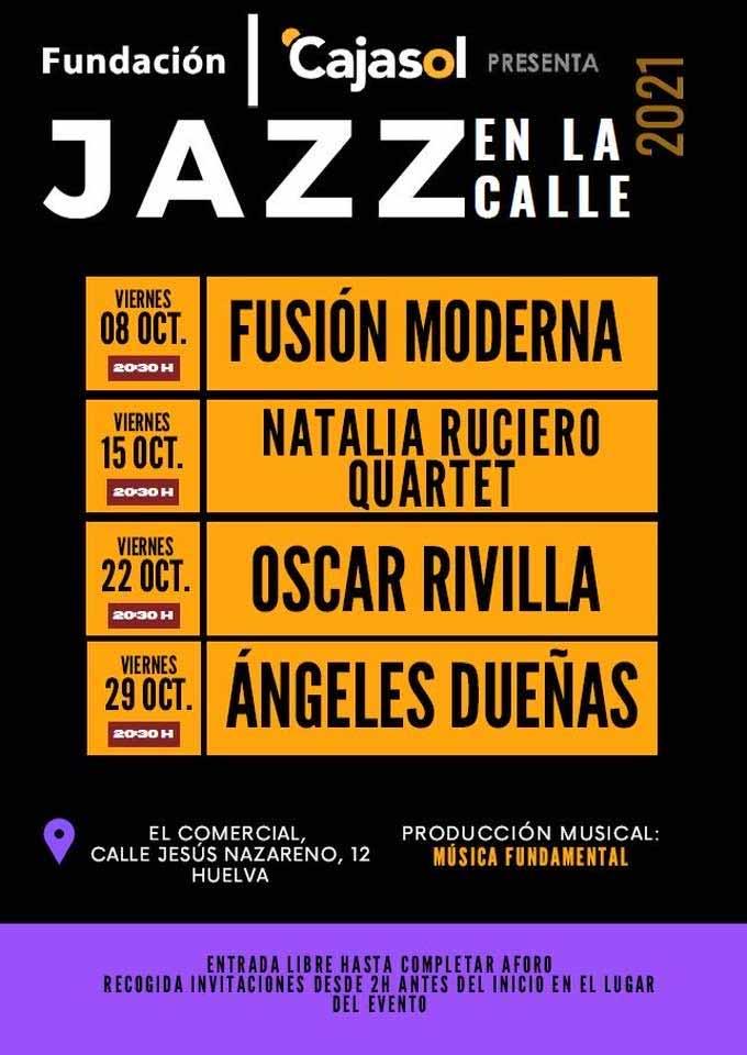 jazz en la calle el comercial fundacion cajasol Natalia Ruciero OScar Rivilla Fusion moderna octubre 2021