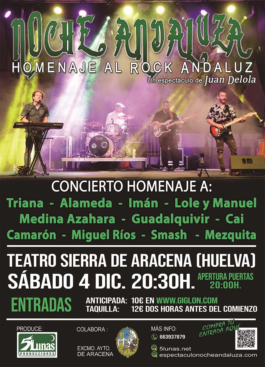 noche andaluza homenaje al rock andaluz Aracena 4 de diciembre