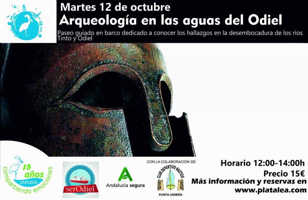 paseo en barco octubre Huelva con Platalea