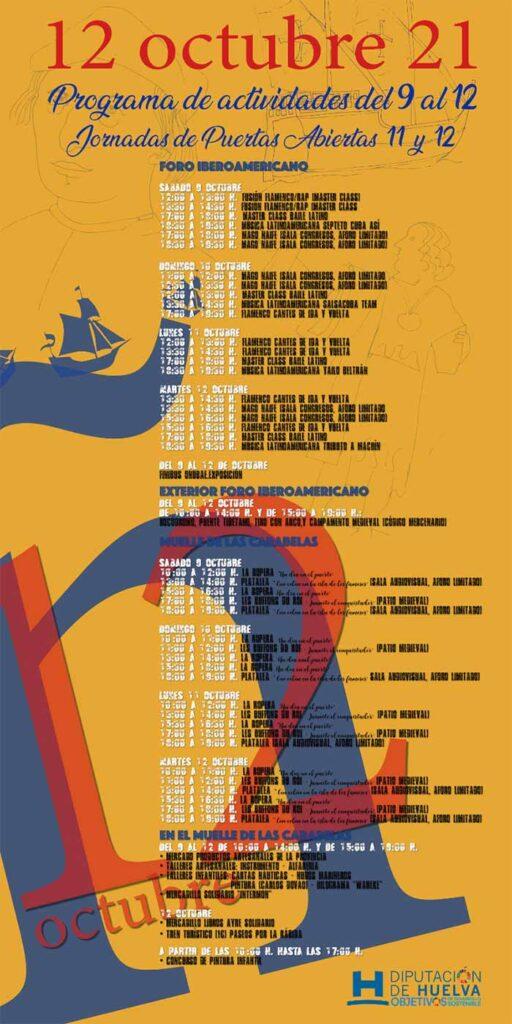 programa de actividades 12 de octubre la rabida foro muelle de las carabelas