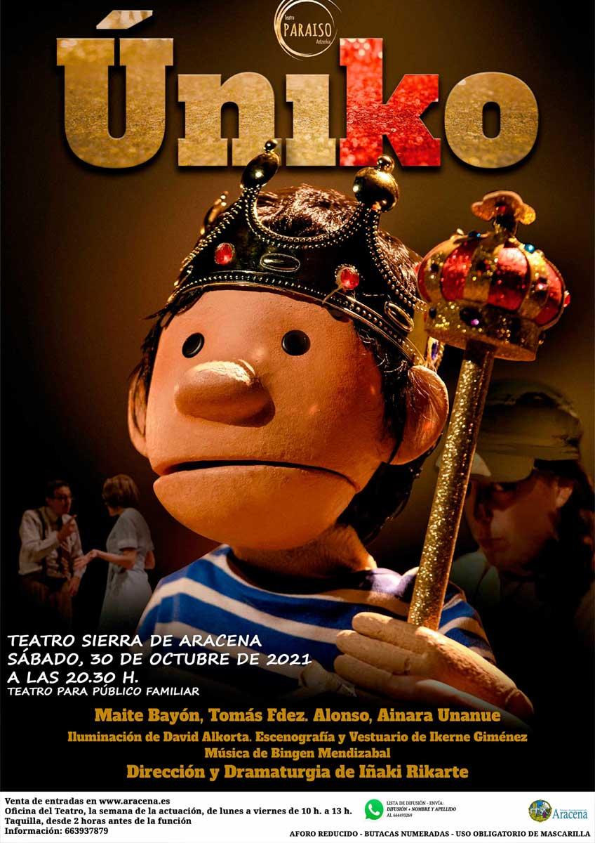 uniko teatro sierra de aracena 30 de octubre publico familiar